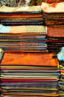 Free A Stack With Fabrics Stock Image - 15609531