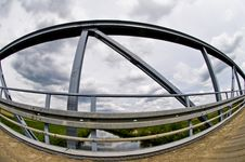 Free Steel Bridge Details Made With Fisheye Lens Stock Image - 15609801