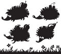 Free Hedgehogs Silhouettes Stock Images - 15614454
