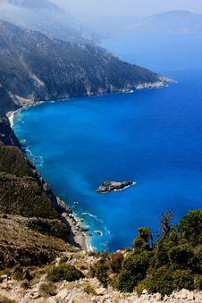 Free View Of Coasts At Kefalonia Island Royalty Free Stock Photos - 15610128