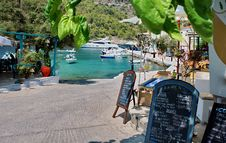 Restaurant At Assos Village Stock Images