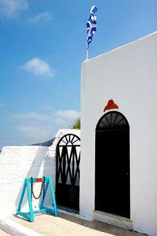 Free Greek Flag Royalty Free Stock Photos - 15610428