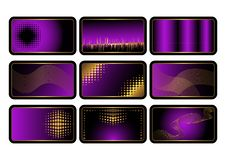Free Set Of Purple Credit Cards. Vector. Royalty Free Stock Photo - 15611915