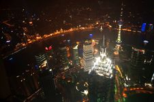 Night View Of Shanghai Stock Image