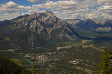 Free Bird S Eye View, Town Of Banff Stock Photography - 15612902