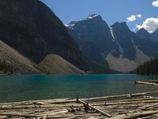 Moraine Lake In Banff Royalty Free Stock Photography