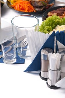 Free Table For A Banquet. Royalty Free Stock Photography - 15613127