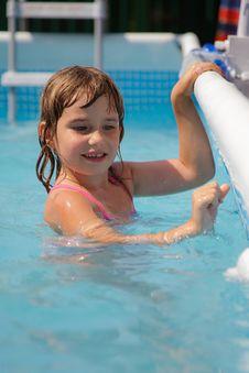 Free Girl In Pool Royalty Free Stock Image - 15613306