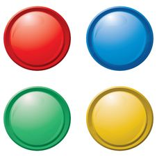 Free Collection Of Colorful Buttons. Eps10 Stock Photography - 15613572