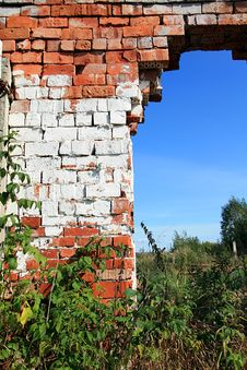 Aging Brick Wall Stock Photo