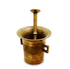 Free Bronze Mortar And Pestle Royalty Free Stock Image - 15614006
