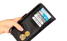 Black Wallet Stock Image
