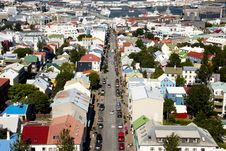 Free Aerial View From Hallgrimskirkja Church Stock Photography - 15614982