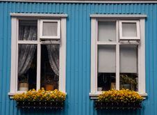 Free Two Windows In Reykjavik - Iceland Stock Photo - 15615170
