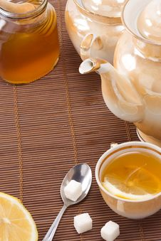 Free Tea, Pot And Honey Royalty Free Stock Photo - 15616035