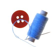 Free Spool Of Threads And Button Royalty Free Stock Photos - 15616178