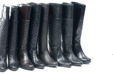 Free Black Woman Boot Stock Image - 15616341