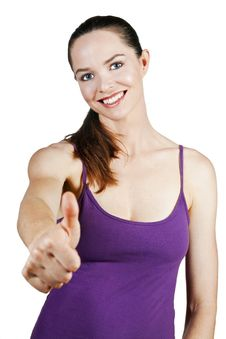 Free Attractive Young Woman With Thumbs Up Royalty Free Stock Photo - 15616595