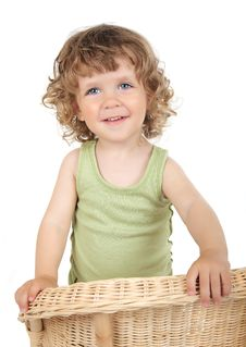 Free Beautiful Curly Baby With Blue Eyes Royalty Free Stock Photography - 15617417