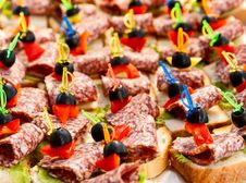 Free Canapes. Stock Images - 15617694