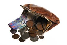 Old Brown Purse Royalty Free Stock Image