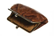Old Brown Purse Royalty Free Stock Images
