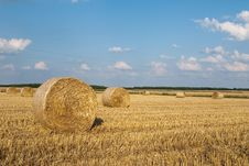 Free Golden Hay Bales Royalty Free Stock Photography - 15618187