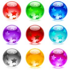 Free Glossy Spheres Stock Photography - 15618482