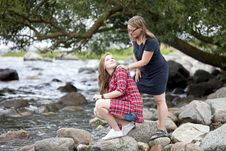 Free Mother And Daughter Together Stock Photography - 15619962