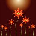 Free Flower Growing Pattern Royalty Free Stock Photo - 15622015