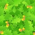 Free Oak Leaf Seamless Background Royalty Free Stock Photography - 15624997