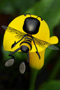 Free Honey Bee Going To The Big Yellow Sun Flower Stock Photos - 15627603