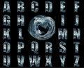 Free Blue Nebula Alphabet Collage Stock Photos - 15628253
