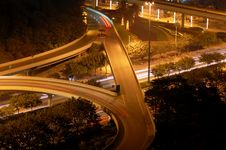 Free The Night Scene Of Highway Royalty Free Stock Image - 15620006