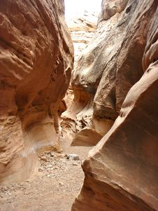 Narrow Canyon Royalty Free Stock Photo
