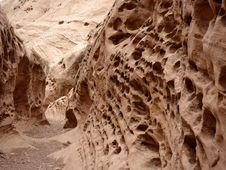 Eroded Sandstone Wall Stock Photography