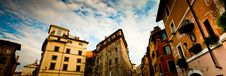 Free Italian Town View With Cloudy Sky Stock Photo - 15621130
