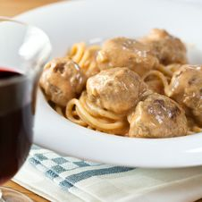 Free Spaghetti With Meatballs Royalty Free Stock Image - 15621196