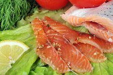 Free Pieces Of  Salmon Stock Photo - 15621370