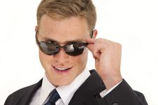 Free Confident Young Businessman With Sunglasses Stock Photos - 15622513