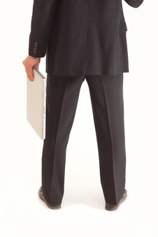 Free Back Of Businessman Holding Laptop Royalty Free Stock Photo - 15622825