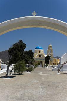 Free Church Bells On Santorini Island Stock Image - 15623941