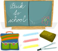 Free School Set 02 Royalty Free Stock Photography - 15624507