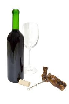The Uncorked Bottle Royalty Free Stock Photography
