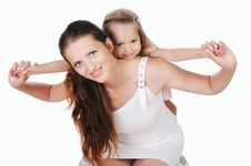 Free Mama And Her Little Daughter Stock Photography - 15624652