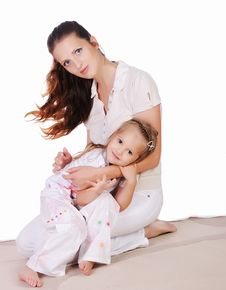 Free Mama And Her Little Daughter Royalty Free Stock Photo - 15624655