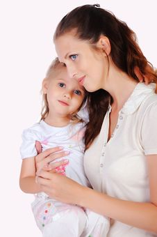 Free Mama And Her Little Daughter Stock Images - 15624664