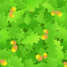 Free Oak Leaf Seamless Background Royalty Free Stock Photography - 15624997