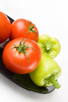 Free Tomatoes And Peppers Royalty Free Stock Images - 15625719