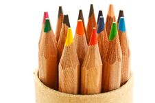 Free Colored Pencils Royalty Free Stock Photos - 15625768